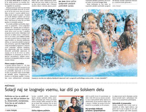 Dnevnik 07.06.2017: Kje je še prostor za otroke med šolskimi počitnicami?